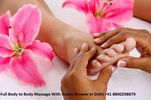 Full Body to Body Massage With Steam Shower in Delhi